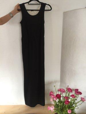 Langes Kleid mit Spitzeneinsätzen am Rücken