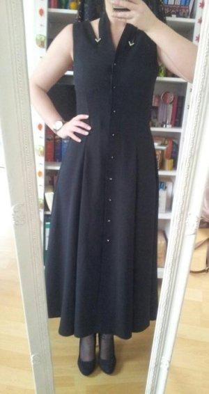 Langes Kleid mit V Strass und Schleife