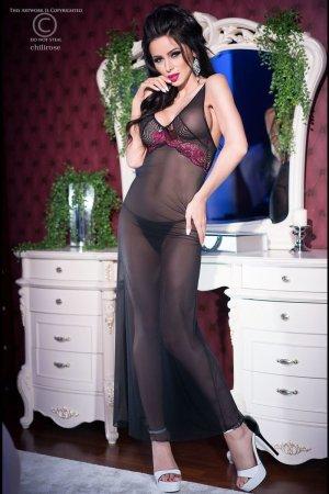 Conjunto de lencería negro-rosa Poliéster