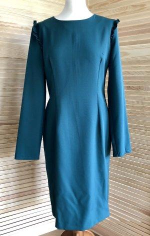 Langes Kleid von Peperuna, XL, petrolgrün, neu