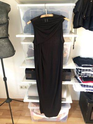 Langes Kleid von Rick Owens in Schwarz aus Wolle