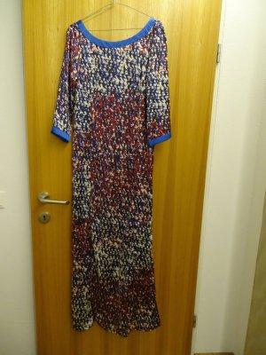 langes Kleid von Sisley mit Schwalbendruck Gr. XS