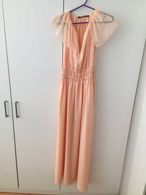 Zara Robe chiffon abricot