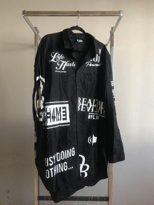 H&M Blouse Dress black-white