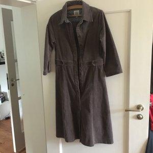 Langes Kort-Samt-Kleid