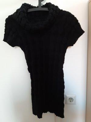 Gebreid shirt zwart Gemengd weefsel