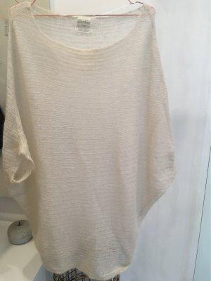 Zara Knit Jersey de manga corta blanco puro