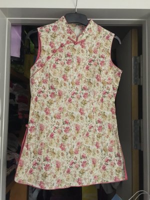 Langes Oberteil Chinese Style S/M (rosa)