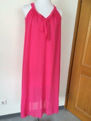 langes rosa / pinkes Kleid / Maxikleid- Gr. S
