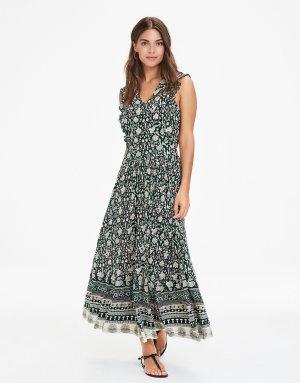 Langes Rückenfreies Blumenprint Kleid von Indiska / Maxikleid