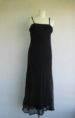 langes schwarzes Abendkleid in Gr. 38