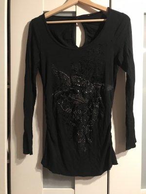 Camicia lunga nero