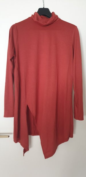 Amisu Turtleneck Shirt cognac-coloured-carmine