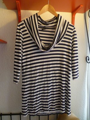 Lindex Cowl-Neck Shirt white-dark blue viscose