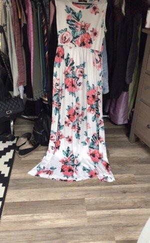 Amazone Maxi-jurk wit-roze