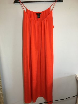 H&M Midi Dress neon orange-orange