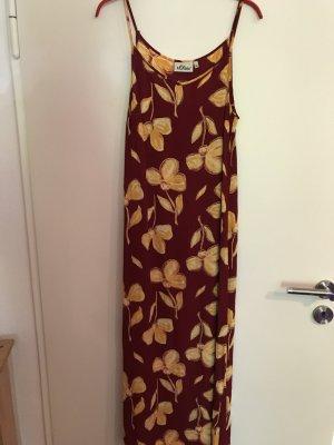langes Sommerkleid in Sonnenfarben von s.Oliver