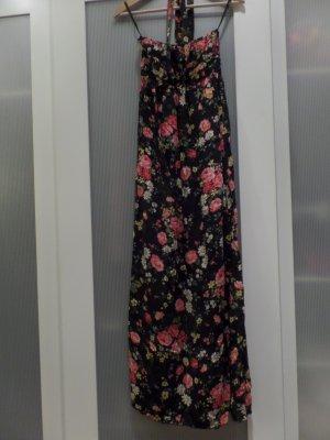 Langes Sommerkleid mit Blumenprint