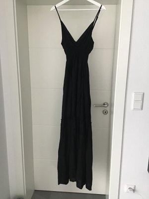Langes Sommerkleid schwarz