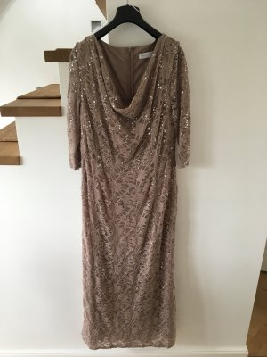 Young Couture by Barbara Schwarzer Lace Dress beige-grey brown