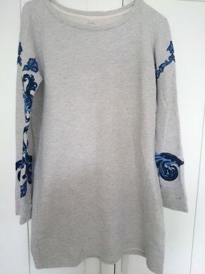 Langes Sweatshirt mit Barock-Muster