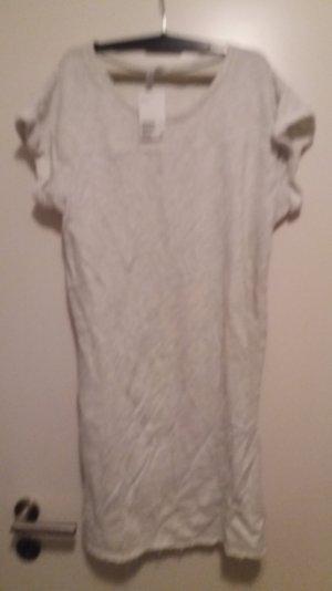langes Sweattop grauweiß