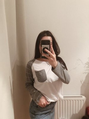 Urban Outfitters Long Top white-grey