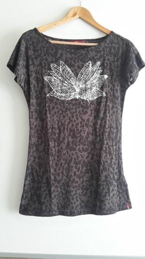 langes T-Shirt mit Print in dunkellila von Mexx