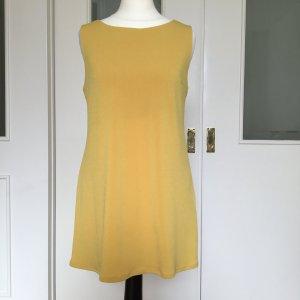 Camomilla Top largo amarillo tejido mezclado