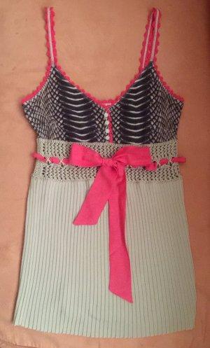 Marc Cain Crochet Top pink-beige