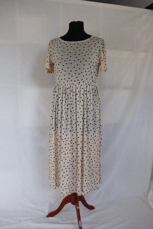 Langes transparentes Kleid von Vila Größe S 36 38 Punkte Dots