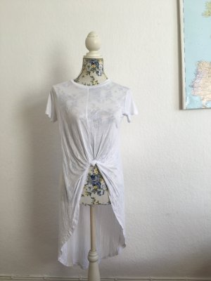 Langes Tunika Shirt mit Knoten Detail