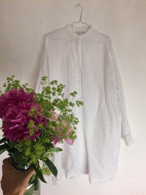Langes weißes Leinenkleid im Hemdstil  ❤️ Ibiza Feeling ❤️ NP 90,00
