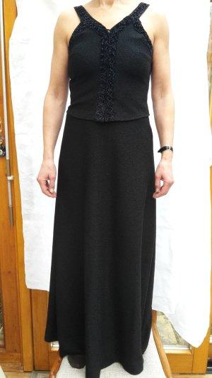 Vestido de noche negro Nailon