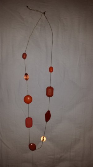 Langhalskette - Gold und Apricot