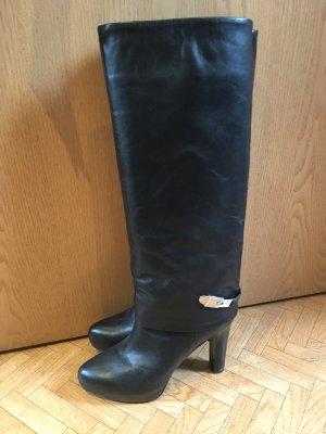 Langschaft-Stiefel im Lagen-Look von Zara