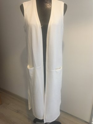 Opus Long Knitted Vest natural white