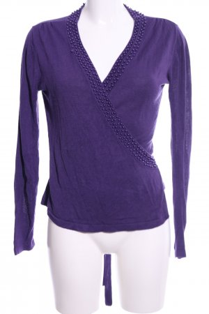 Lanidor Knitted Wrap Cardigan lilac casual look