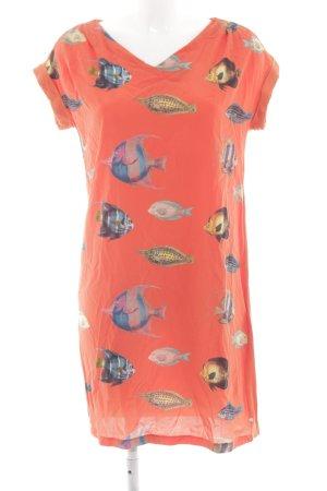 Lanius Vestido estilo camisa estampado repetido sobre toda la superficie