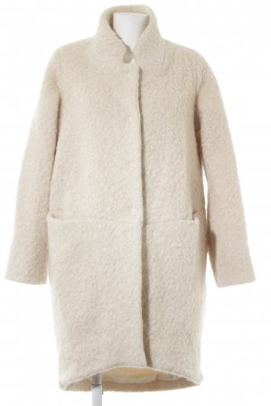 Lanius Manteau en laine crème style décontracté