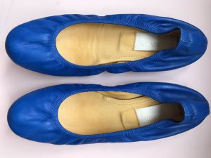 Lanvin Ballerinas with Toecap blue-neon blue leather