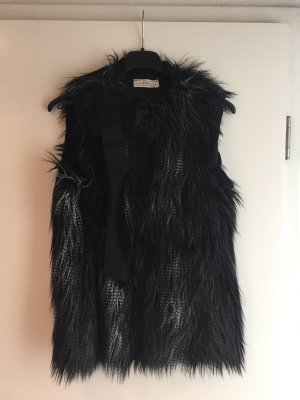 H&M Fur vest multicolored