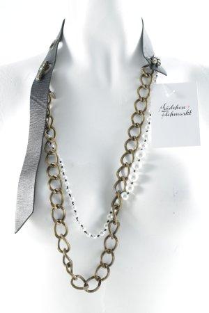 Lanvin for H&M Halskette schwarz-weiß Perlenverzierung