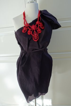 LANVIN for H&M Kleid, EUR 42, aubergine, mit roter Lanvin for H&M Kette !!