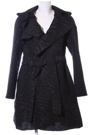 Lanvin for H&M Abrigo corto negro estampado repetido sobre toda la superficie
