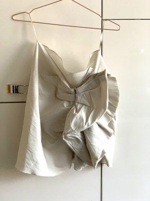 Lanvin for H&M Falda asimétrica blanco puro-crema