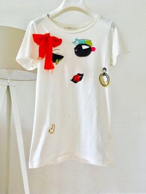 Lanvin for H&M / T-Shirt / weiß / Gr. XS / Gr. 34