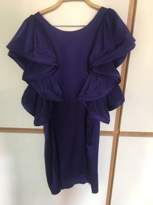 Lanvin for H&M Vestido estilo flounce violeta oscuro