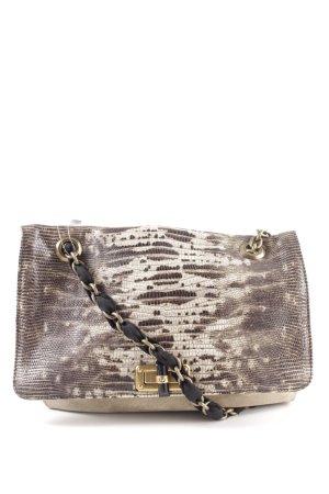Lanvin Handtasche wollweiß Animalmuster extravaganter Stil