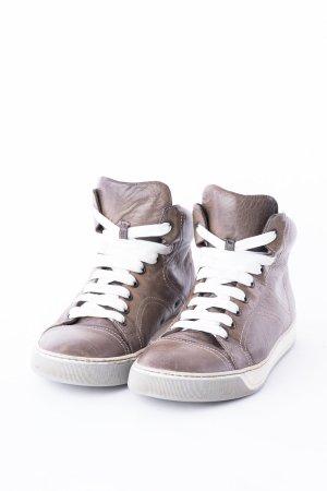 LANVIN - Hightop-Sneaker aus Leder Braun
